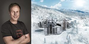Björn Dählie går nu in hans största projekt hittills i Åre kallat View Åre. Går allt enligt plan kommer 119 exklusiva lägenheter byggas kommande 5 år. Illustration: Adeprimo