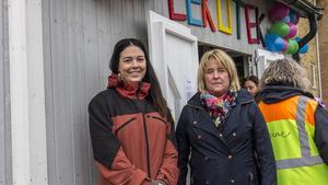 Michaela Sjöstrand, biträdande rektor och Stina Grufman Nyman, rektor, är väldigt glada att lekoteket har öppnat.