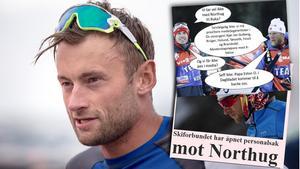 Petter Northug är i blåsväder. Foto: TT/Instagram/VG.no (Montage).