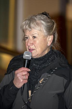 Tätte Örhammar-Sjödén, ordförande i Kvinnojouren brinner för att hjälpa utsatta kvinnor. Foto: Berit Djuse