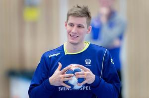 Linus Arnesson under en landslagsträning inför EM i Kroatien. Foto: Thomas Johansson TT