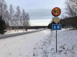 Dödsolyckan inträffade på riksväg 68, en halvmil norr om Lindesberg.
