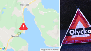 """JUST NU: E4 vid Docksta avstängd i timmar efter lastbilsolycka: """"Har varit problematiskt"""""""
