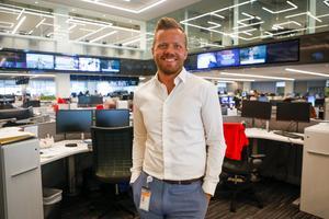 Jonas Ekblom från Hudiksvall, som arbetar på Reuters i Bryssel, har fått ett prestigefyllt stipendium. Foto: Reuters