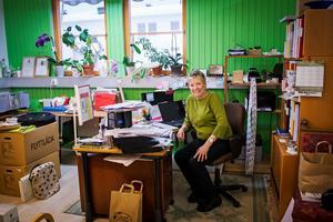 Grönt är favoritfärgen för Eva Magnusson.