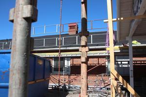 I samband med utbyggnaden får den äldre delen av Risholnsgården nytt tak.