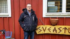 Lars Eliasson, presstalesperson för pistolskytteklubben Svea Ing 1 vid Almnäs.
