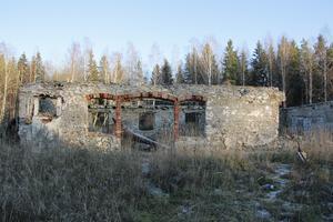 Den gamla ladugården brann den 5 oktober 2012.