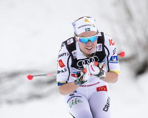 6 januari 2018. Tour de Ski i Val di Fiemme. Emma Wikén är en av de svenska åkarna. Foto: TT