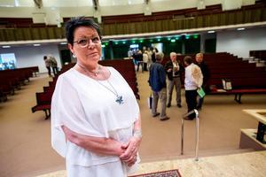 Katarina Hägg i föreningen Örnsköldsvik Framtidens akutsjukhus är också förstanamn på Sjukvårdspartiets röstsedel.