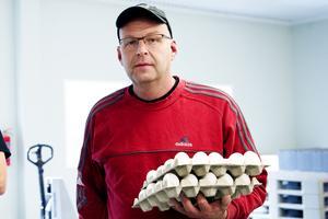 Peter Sellgren önskar se en prishöjning på ägg. Arkivbild: Jennie Sundberg