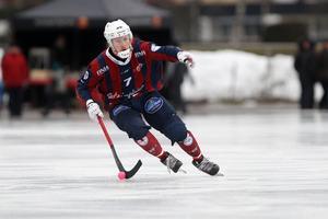 Niklas Eriksson gjorde på söndagen hela fem mål i för sitt Katrineholm. Bild: Lasse Jansson/Katrineholm Bandy.