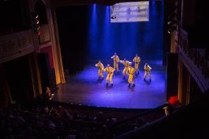 Gruppen Royals visade upp finaldansen från VM.