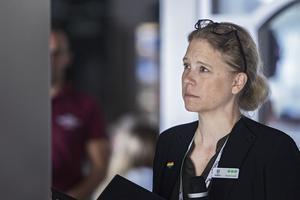 Emelie Lundin, ordförande i Bollnäs Pride, var glad att uppslutningen var stor.
