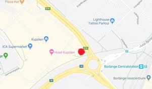 Här planeras en biltvätt vid Kupolen. Karta: Google maps.
