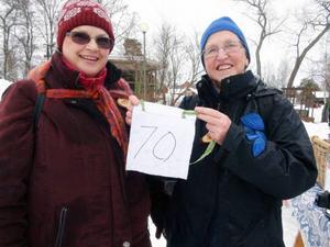 Eva Sundin och Gunilla Nilsson-Edler är båda med i Jamtlis Gynnare. Minst 70 åkare släppte de iväg.