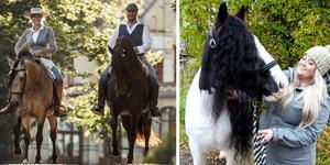 Sofia Eriksson och Vladimir Drybcak  på hästarna Furia och Kambiko samt Emmy Eriksson med Annagbrack Rambo. Bild: Johanna Blixbo, Irene Hedblom