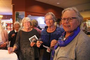 Karin Viksten har tagit med sig väninnorna Margit och Birgitta från gymmet.