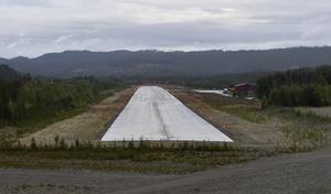 Idre flygfält nu redo för att trafikeras.