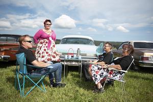 Sam Såthe från Kramfors och Lollo Isaksson, Rolf Persson och Meile Johansson från VIlhelmina.