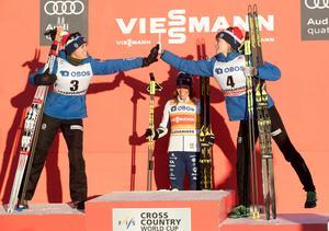 Heidi Weng och Ragnhild Haga knäcktes båda av Charlotte Kalla i Lillehammer. Nu ska norskorna lägga upp en ny taktik för att stoppa svenskan. Bild: TT