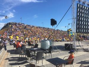 Foto: Läsarbild Cirka 1500 personer kom för att se kvartsfinalen.