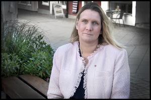 Hanna Stymne Bratt (S), 2:e vice ordförande för KSON, är orolig över framtiden för Tiohundra. Foto: Katarina Hansson