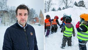Bilden är ett montage.  Anders Lindh driver Kids Östersund.