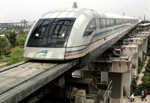 Kinesiskt magnettåg. Foto: TT