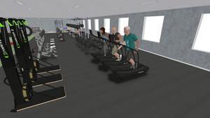 Meningen är att det ska finnas träning för alla åldrar och styrka i lokalen.