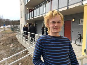 Jonathan Andersson tycker att boendet på Meteorgatan fungerar bra.