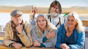 2019-års skärgårdsturnerande artister är Peter Carlsson, Viktoria Tolstoy, Ebbot Lundberg och Tina Ahlin. Foto: Skärgårdsfoton