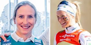 Marit Björgen (till vänster) tror att Frida Karlsson (till höger) kan utmana de norska storstjärnorna redan i år.
