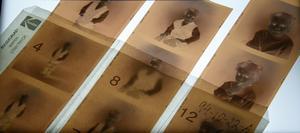 Så här ser fotonegativen i en av mapparna ut. Foto: Privat