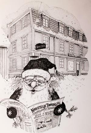 Julkort från 1978 av Börje Claesson