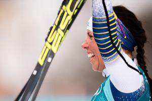 Charlotte Kalla tog sitt andra individuella OS-guld. Bild: Joel Marklund/Bildbyrån