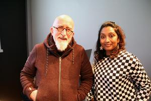 Tim Webb, regissör, Debbie Bandare, koreograf/artist, från Oily Cart Theatre i England.