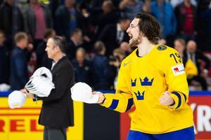 Filip Forsberg var en av målskyttarna i VM-finalen, den straff som avgjorde och gav Sverige VM-guld.Bild: Petter Arvidson/Bildbyrån