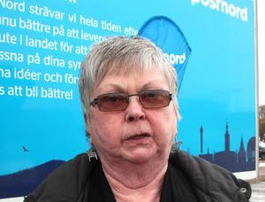 Ulla Östberg, från Grycksbo, är besviken på Postnord.