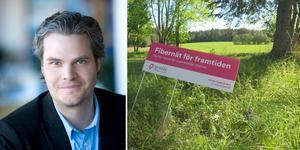 Niclas Karnhill, presschef på IP-Only, säger att byggbeslut inte är taget än gällande Enhörna.