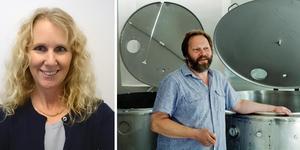 Louise Fredriksson och Bengt Mattsson har båda vunnit på Roslagens Företagsgala. Foto vänster: Privat. Foto höger: Stig-Göran Nilsson