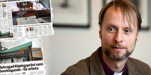 Mikael Mogren, biskop i Västerås stift, går till fränt angrepp mot en jurist på Kyrkans Akademikerförbund.