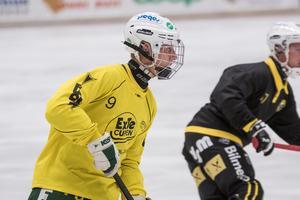 Isak Flodberg noterades för 1+1 i Ljusdals första träningsmatch.