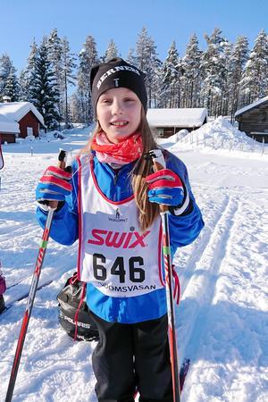 Cecilia Jonsson säger att träningen inför loppet ibland har varit jobbig men skulle trots det gärna åka Ungdomsvasan någon fler gång.Foto: Frida Vestermark