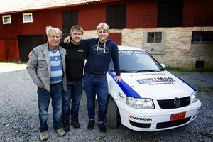 Här står tre generationer rallyförare där intresset för rally har gått i arv: Leif, Per och Sixten Westman.