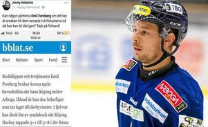 Jimmy Hellströms facebookinlägg inför förra derbyt.