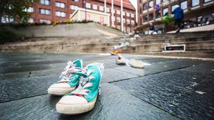 En sko-aktion ägde rum på Stortorget under tisdagen.