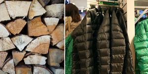 En man misstänks ha stulit ved och jackor från två olika butiker i Sälen. Foto: Heiko Junge/TT, Maja Suslin/TT