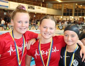 Elsa Harnesk, Astrid Lönn och Matilda Nilsson. Foto: Susanna Källquist
