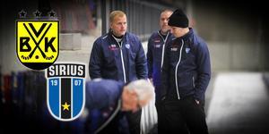 Vänersborgs tränarduo Ari Holopainen och Jesper Larsson (till höger).